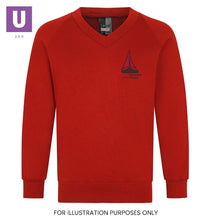 Load image into Gallery viewer, Thameside Primary V-Neck Sweatshirt with logo