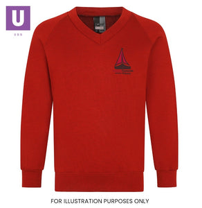 Thameside Primary V-Neck Sweatshirt with logo