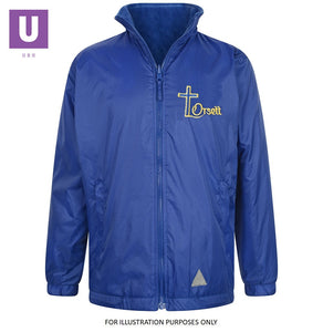 Orsett Primary Reversible Fleece Jacket with logo