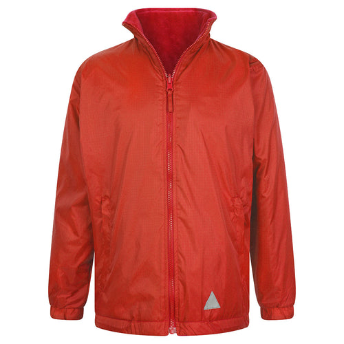 Red Reversible Fleece Jacket