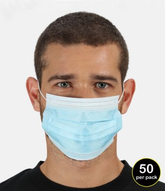 Regatta Type I 3-Ply Disposable Face Mask (50 pk)