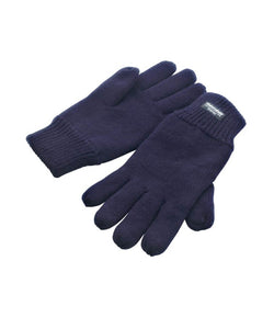 Kids Navy Lined Thinsulate™ Gloves