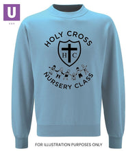 Load image into Gallery viewer, Holy Cross Nursery Crew Neck Sweatshirt with logo