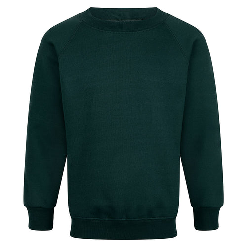 Bottle Green Crew Neck Sweatshirt