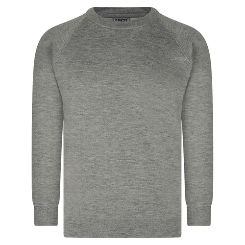 Grey Unisex Crew Neck Sweatshirt