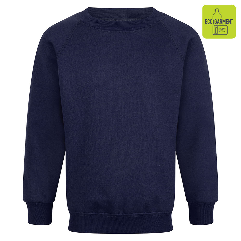 Navy Blue Unisex Crew Neck Sweatshirt
