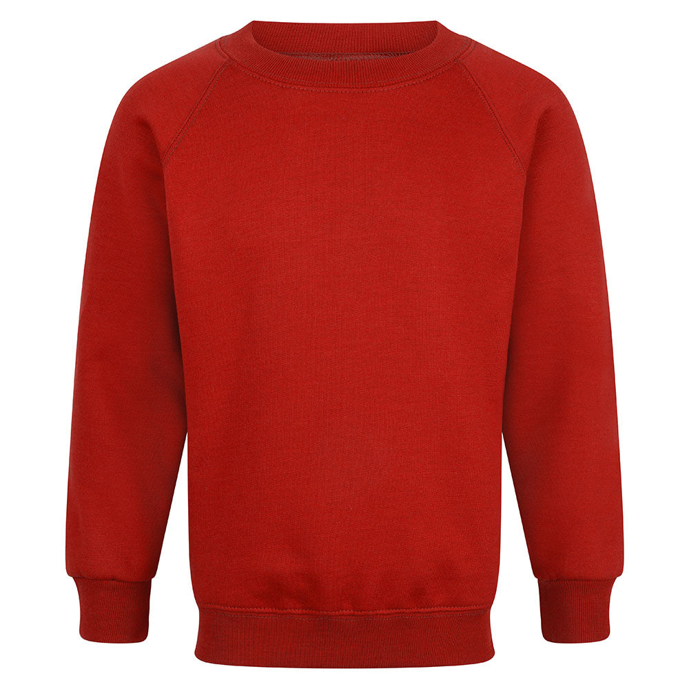 Red Unisex Crew Neck Sweatshirt