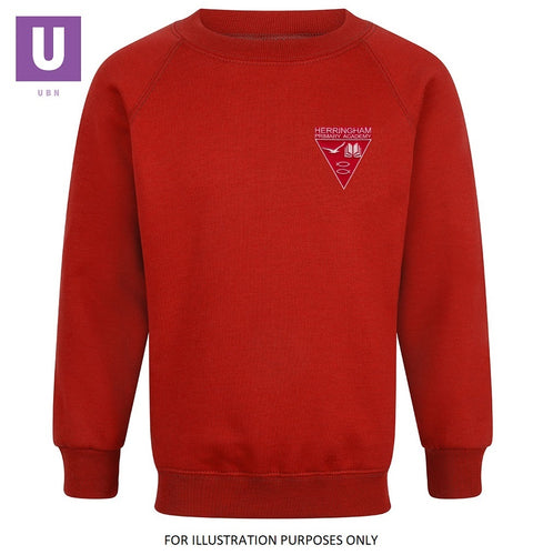 Herringham Primary Crew Neck Sweatshirt with logo