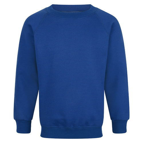 Royal Blue Unisex Crew Neck Sweatshirt
