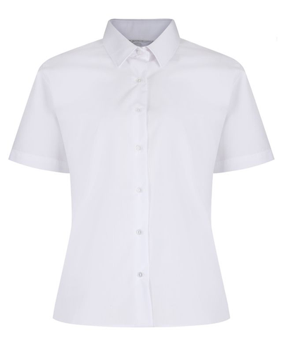 Trutex White Short Sleeve Non Iron Blouses (Twin Pack)