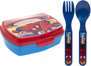 Children's Fun Character Lunchbox With Cutlery