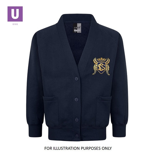 Stifford Clays Primary Sweatshirt Cardigan with logo