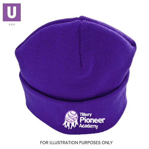 Tilbury Pioneer Knitted Ski Hat with logo