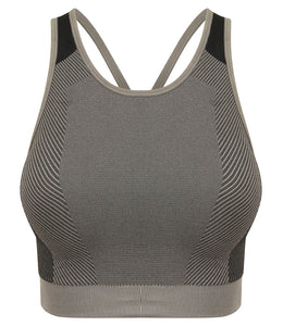 Tombo Ladies Seamless Panelled Crop Top