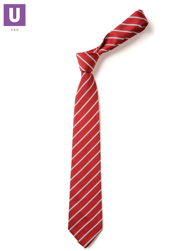Red & Silver Thin Stripe Tie