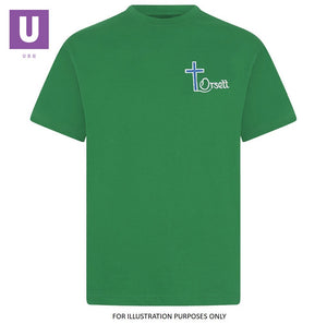 Orsett Primary Emerald Green P.E. Crew Neck T-Shirt