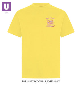 Horndon-on-the-Hill Primary Yellow P.E. T-Shirt with logo