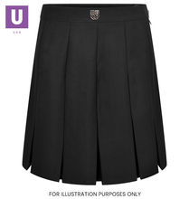Load image into Gallery viewer, Thames Park Stitched Down Box Pleat Skirt with logo