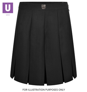 Thames Park Stitched Down Box Pleat Skirt with logo