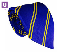 Load image into Gallery viewer, Royal & Gold Double Stripe Tie