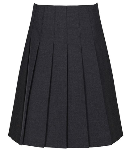 Grey Trutex Stitch Down Pleat Skirt