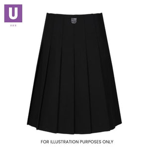 Thames Park Trutex Stitch Down Pleat Skirt with logo