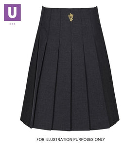 St Clere's Trutex Stitch Down Pleat Skirt with logo