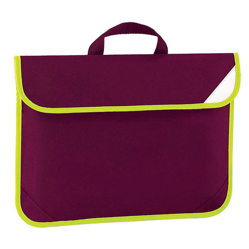 Burgundy Enhanced Viz Book Bag