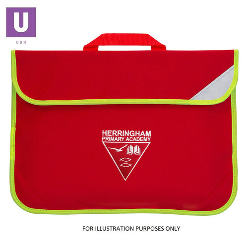 Herringham Primary Enhanced Viz Book Bag with logo