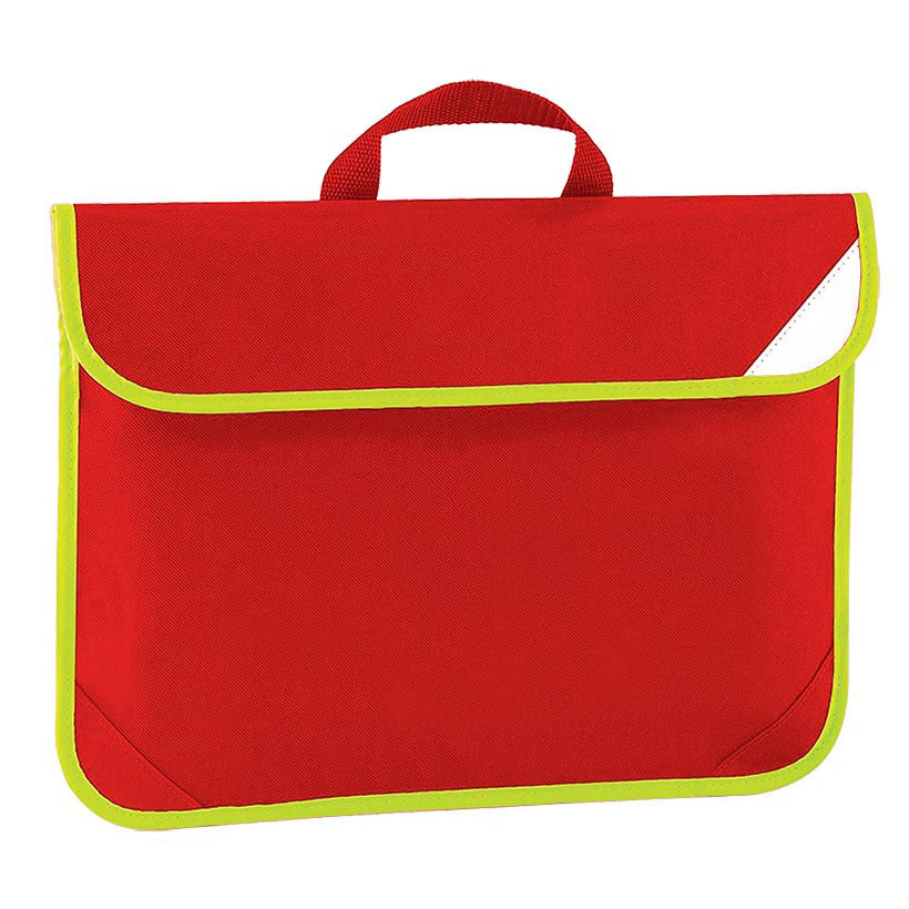 Red Enhanced Viz Book Bag
