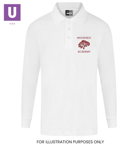 Clearance Woodside Academy Long Sleeve Polo Shirt (Twin Pack)