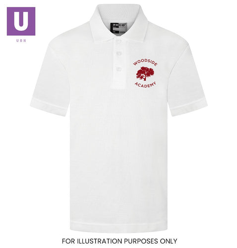 Woodside Academy Polo Shirt with logo