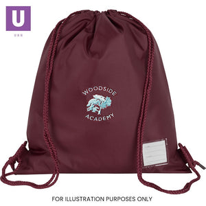 Woodside Academy Premium P.E. Bag with logo