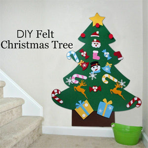 Felt Christmas Tree With Ornaments