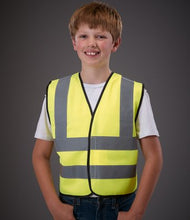 Load image into Gallery viewer, Yoko Kids Hi-Vis Two Band and Braces Waistcoat