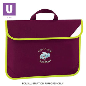 Woodside Academy Enhanced Viz Book Bag with logo
