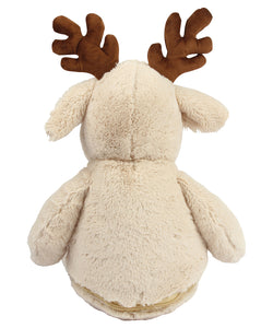 Mumbles Large Light Brown Zippie Reindeer Plush Toy