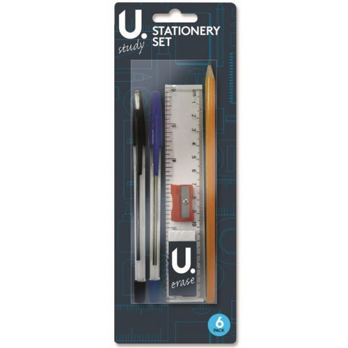 U.Study Starter 6pc Stationery Set