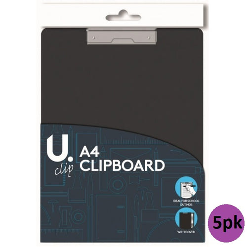 A4 Clipboard with Cover (5pk)