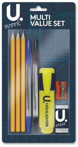 U.Study Multi Value 8pc Stationery Set