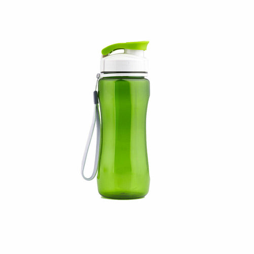 Green Flip Top Water Bottle