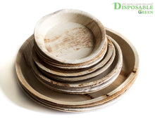 Load image into Gallery viewer, Eco-Friendly Round Areca Leaf Plates