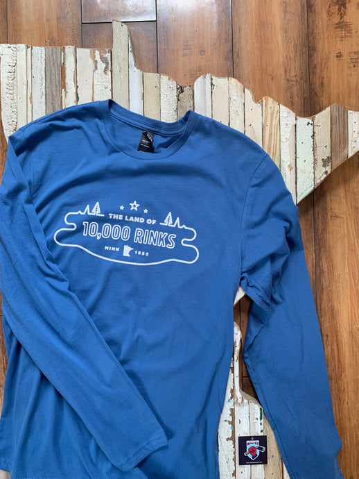 Land of 10,000 Rinks Unisex Long Sleeve Tee