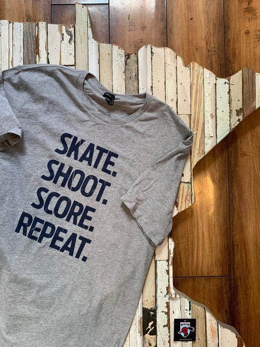 Skate Shoot Score Unisex Short Sleeve Tee