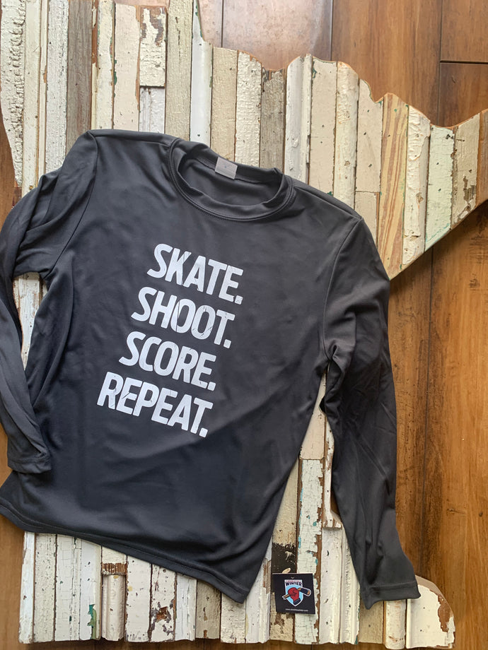 Youth Skate Shoot Score Long Sleeve Athletic Wear