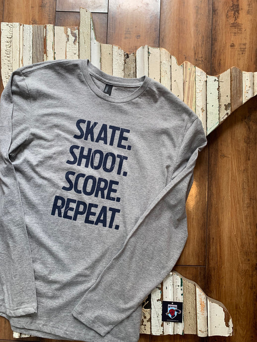 Skate Shoot Score Unisex Long Sleeve Tee