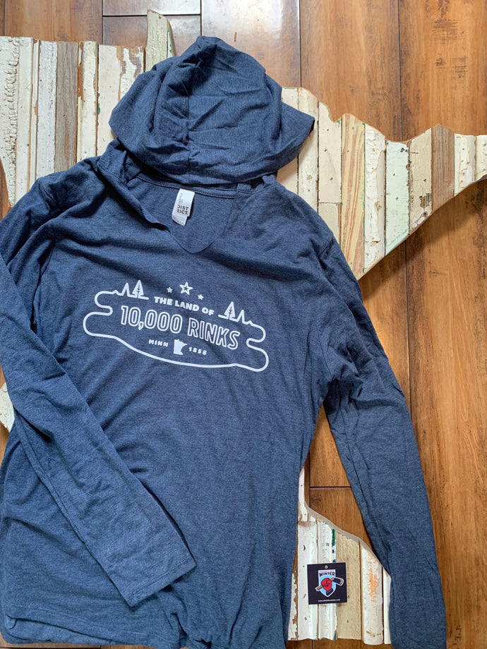 Ladies Land of 10,000 Rinks Long Sleeve Hoodie
