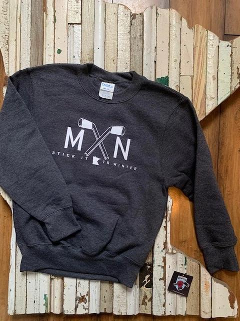 Youth MN Hockey Sticks Pullover