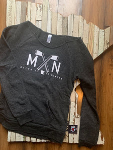 Ladies MN Crossed Hockey Stick Pullover