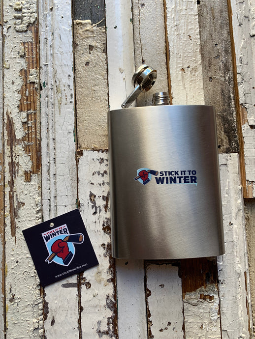 Stick It To Winter Novelty Flask